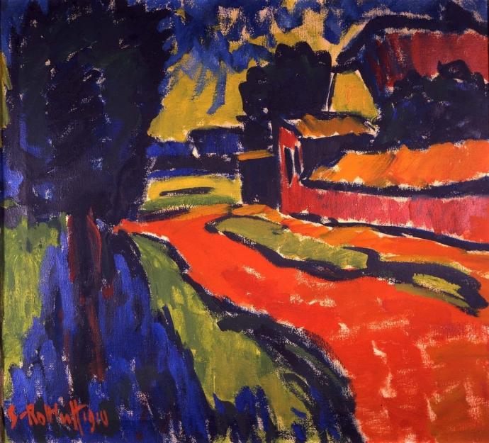 +2694 Karl Schmidt-Rottluff    Village Corner (Dorfecke), 1910.jpg