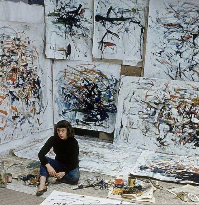 +2Joan Mitchell in her studio, Paris, France, September 1956..jpg