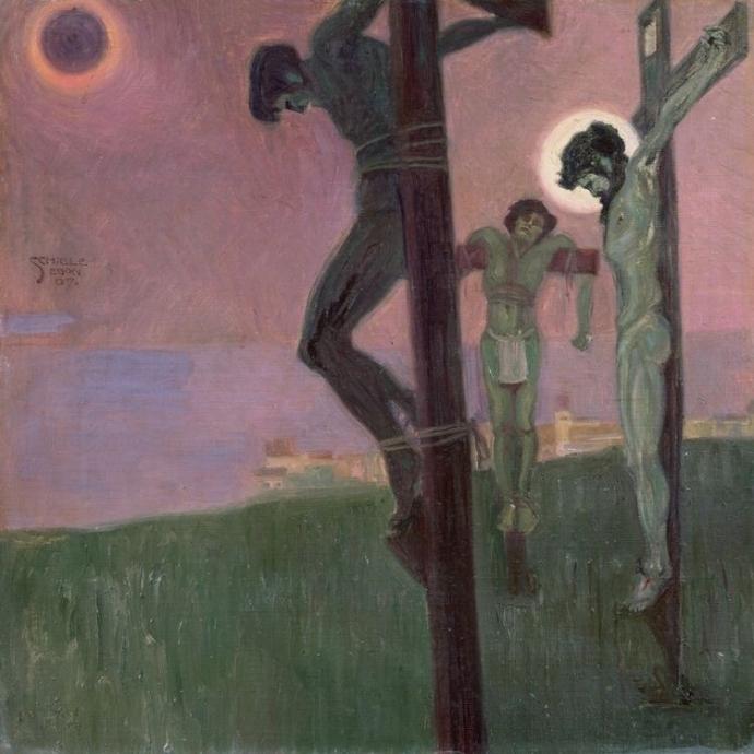 + 2821 Egon Schiele Crucifixion [with Darkened Sun] 1917.jpg