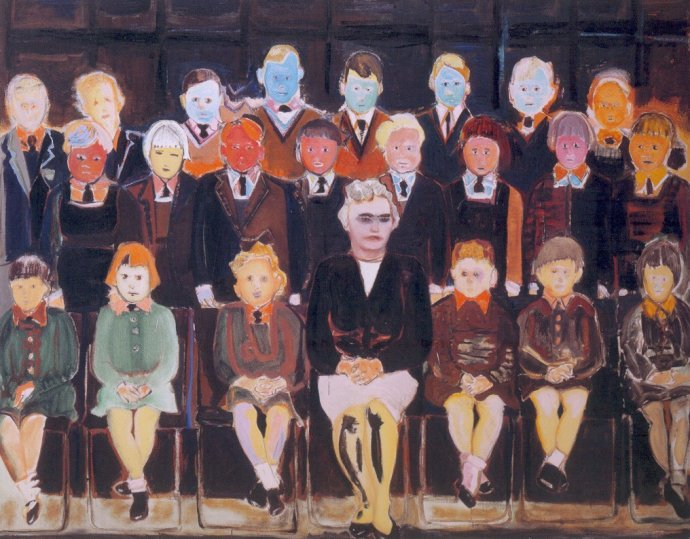 "+2306b Marlene Dumas, ""The Teacher (Sub A)"", 1987.jpg"