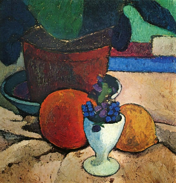 +2345 Paula Modersohn-Becker   Still Life with Plant, Lemon and Orange, 1906.jpg