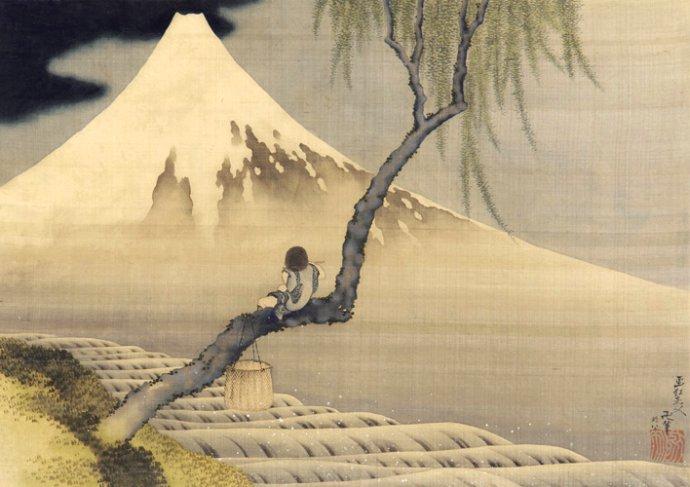 406 Katsushika Hokusai  Garçon regardant le mont Fuji  1839.jpg