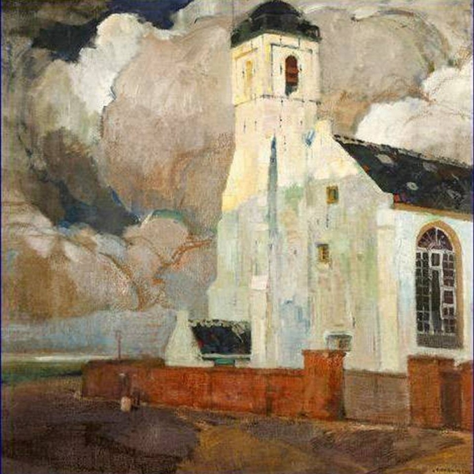 +51The White Church in Katwijk  -   Isidoor Opsomer , c.1920..jpg