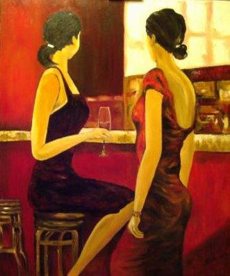 ++1Marie Claude Delcourt  femmes au bar.jpg