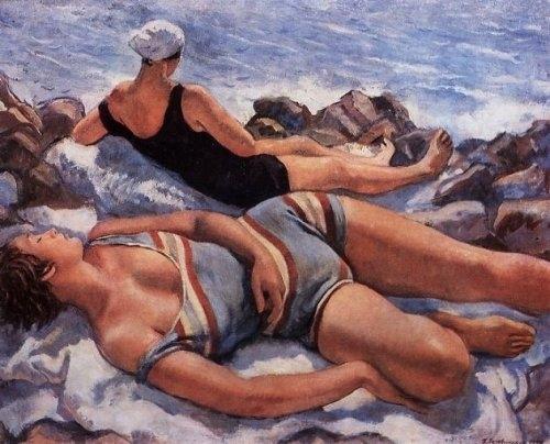 +8Zinaida Serebriakova, Bathers, 1927.jpg
