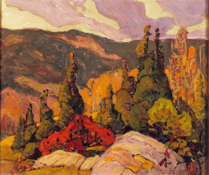 ++1479 Franklin Carmichael. Autumn scene c.1920.jpg