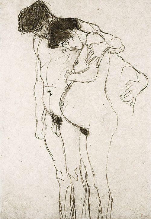 +34Gustave Klimt Pregnant Woman and Man.jpg