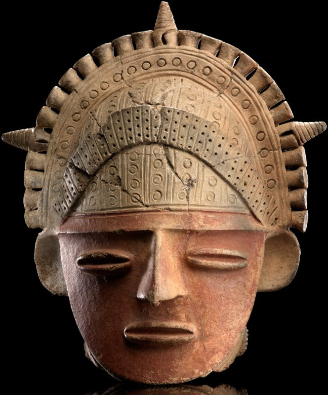 +933 art précolombien Muisca ceramic head AD 1200–1600 Colombia.jpg