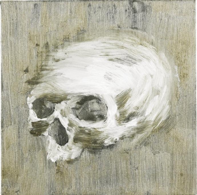 +10Yan Pei-Ming  Silver Skull #1, 2005..jpg