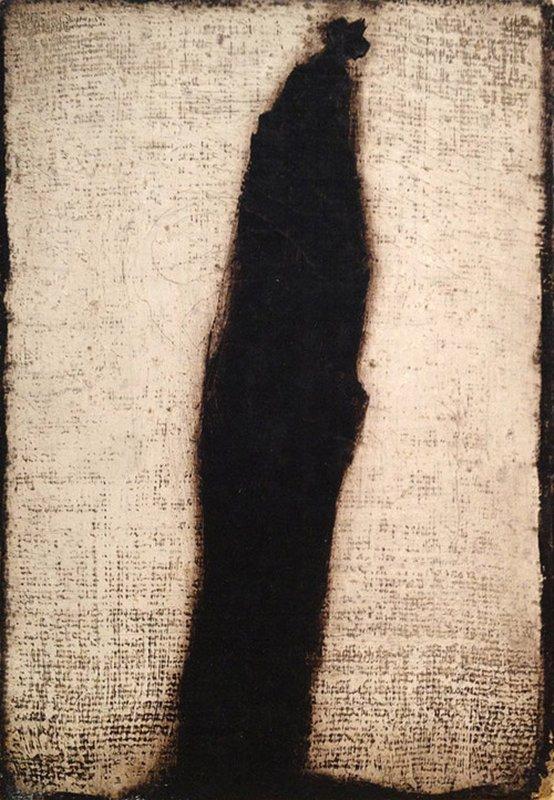 818 Loïc de Groumellec  Mégalithe noir 1986.jpg