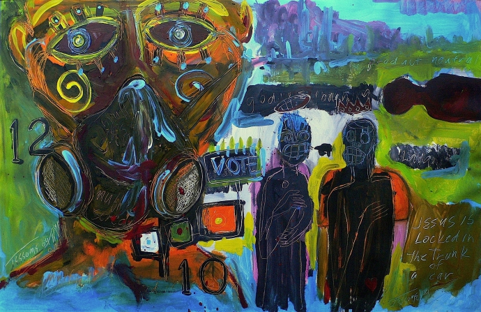835 Len Jessome - muffled scream - 2004.JPG