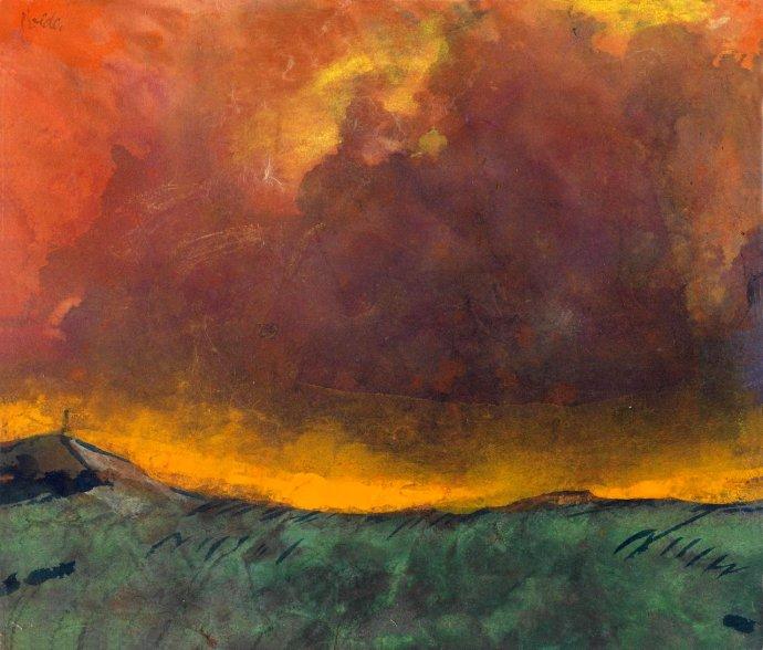 +1541 Emil Nolde Herbstabend [Autumn evening], c.1930.jpg