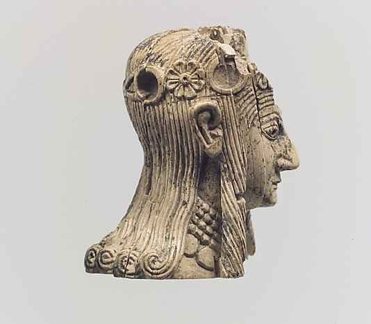 856 Art néo assyrien Female Head with rosette diadem (c.8th-7th Century BC).jpg