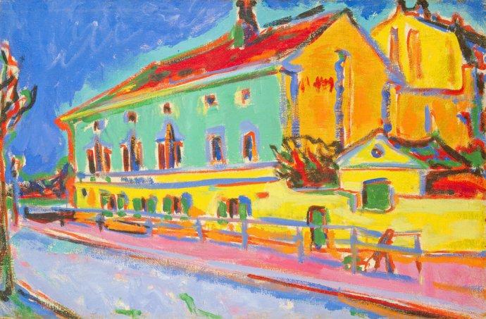 +2271 Ernst Ludwig Kirchner, Houses in Dresden, 1910.jpg