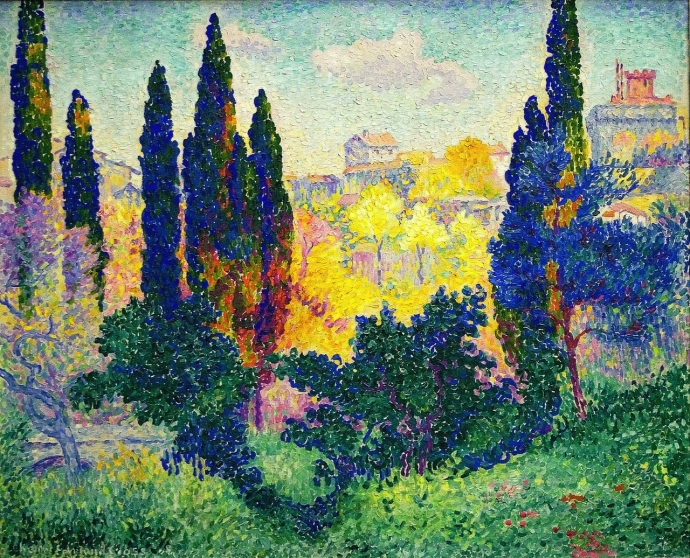 + 2807 The Cypresses at Cagnes, 1908, Henri-Edmond Cross.jpg