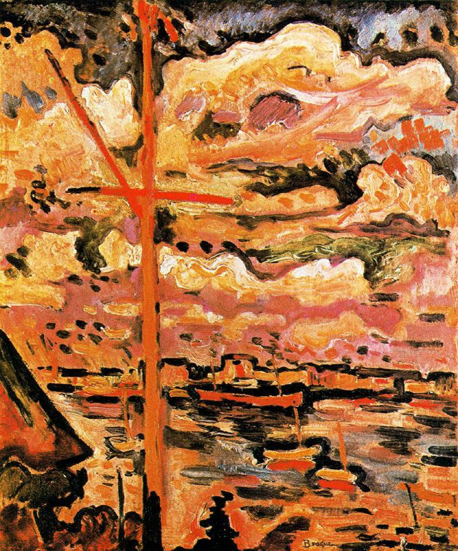 ++1610 Georges Braque. The Port of Antwerp the Mast 1906..jpg