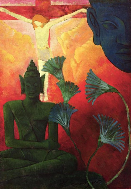 +2494 Paul Ranson - Buddha and Christ - 1890.jpg