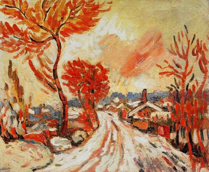 +2675 André Derain Paysage de neige à Chatou.jpg