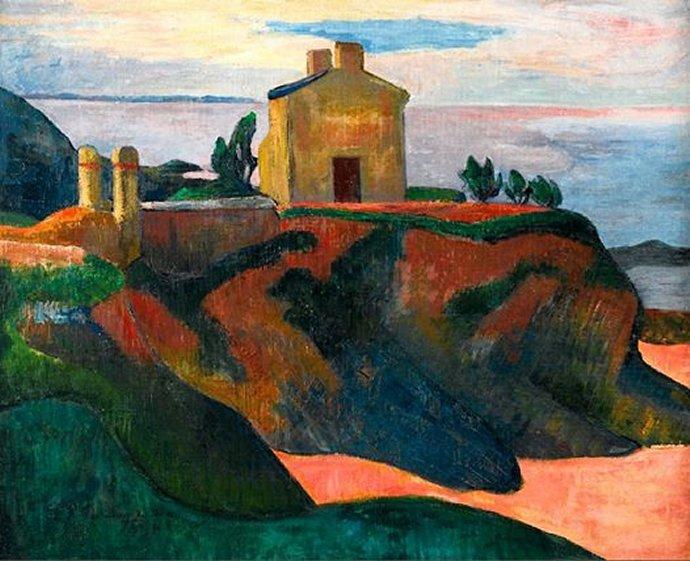 +1556 Paul Gauguin - La Maison de Pen-Du (1890).jpg