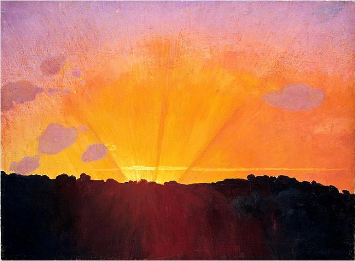 +14Felix Vallotton coucher de soleil.png