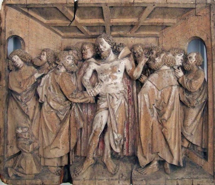 695 Anonyme, Le doute de Saint Thomas 16è s  Mulhouse.jpg