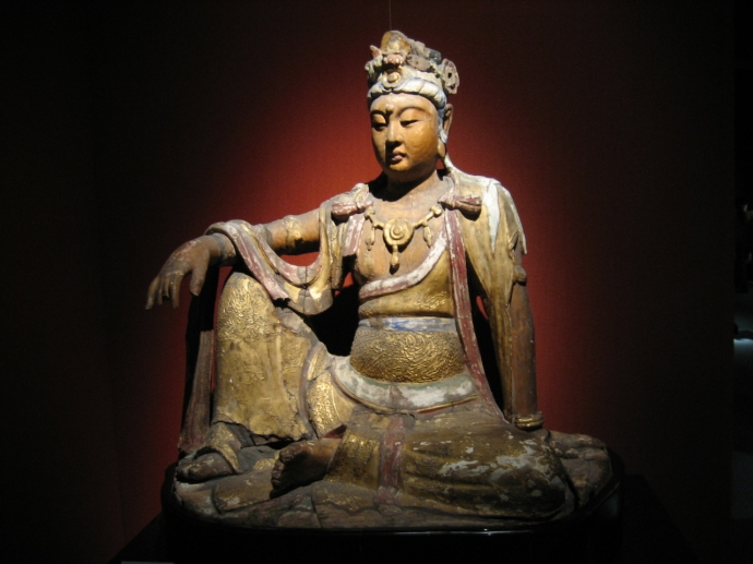 984 A wooden gilded statue of the bodhisattva Avalokiteśvara from the Chinese Song Dynasty (960-1279).jpg