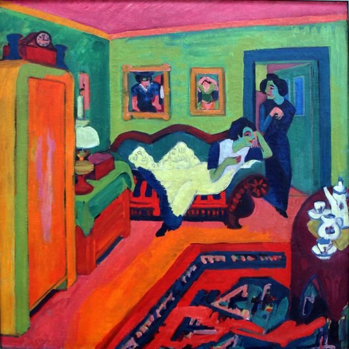 +2766 Ernst Ludwig Kirchner, Interieur mit zwei Mädchen (Interieur with Two Girls), 1926.jpg