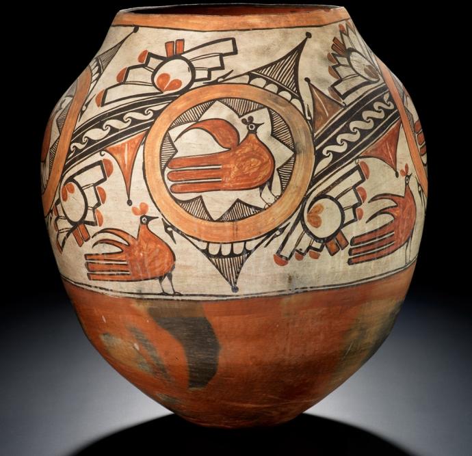 990 Rosalia Medina Toribio (Zia, 1858–1950), polychrome jar ca. 1920–1929 Zia Pueblo, New Mexico.jpg