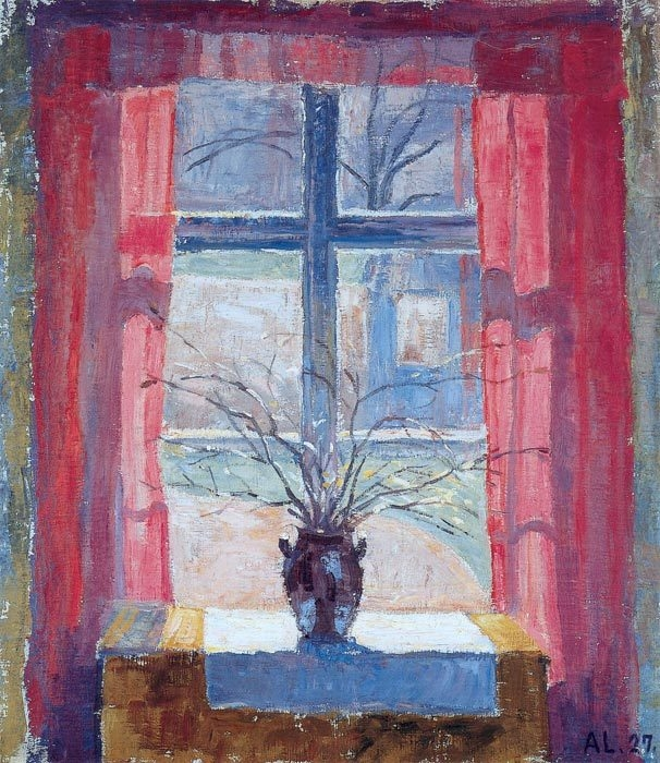 + 2804 Beech Branches by the window, Boxhult    -  Alhed Maria Larsen, 1927.jpg