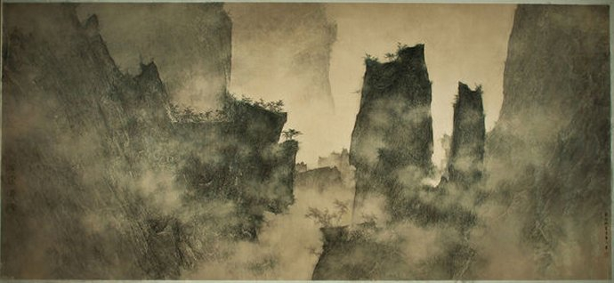 873 li-huayi-mountains-looming-through-the-mist.jpg
