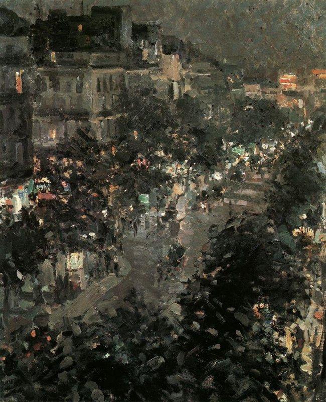+2272 Konstantin Korovin - Paris at Night. Boulevard des Italiens 1908.jpg