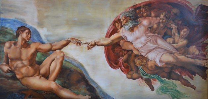 +2677 1 Michelangelo Buonarotti  Création d'Adam chapelle Sixtine  c.1512.jpg