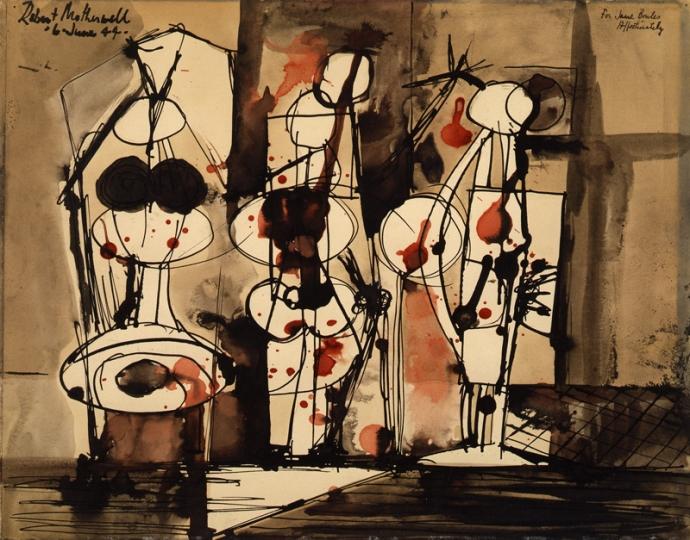 +53Robert Motherwell, Three Figures Shot, 1944..jpg