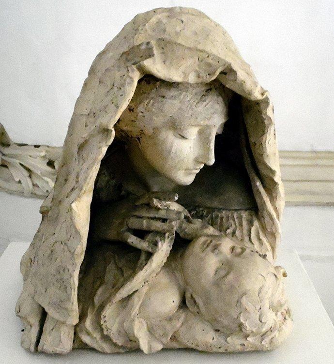 +682 Anonyme, Mère et enfant 19è s La Valette.jpg