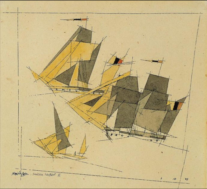 790 Lyonel Feininger Peaceful Voyage III   1933.png