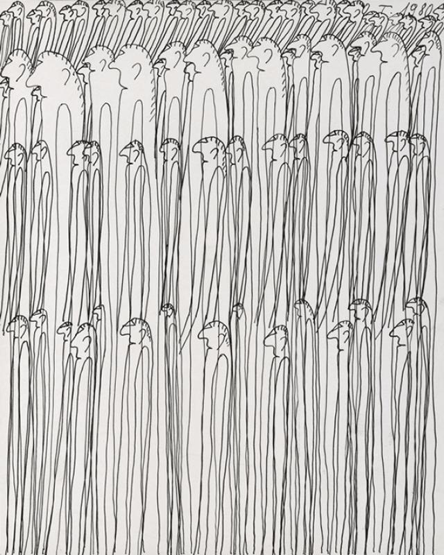 749 Oswald Tschirtner, sans titre2, 1980 encre de Chine sur papier.png