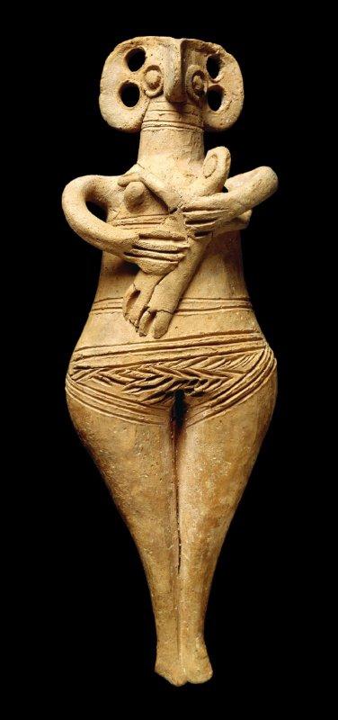859 culture chypriote figurine tenant un enfant  1450-1200 BC.jpg