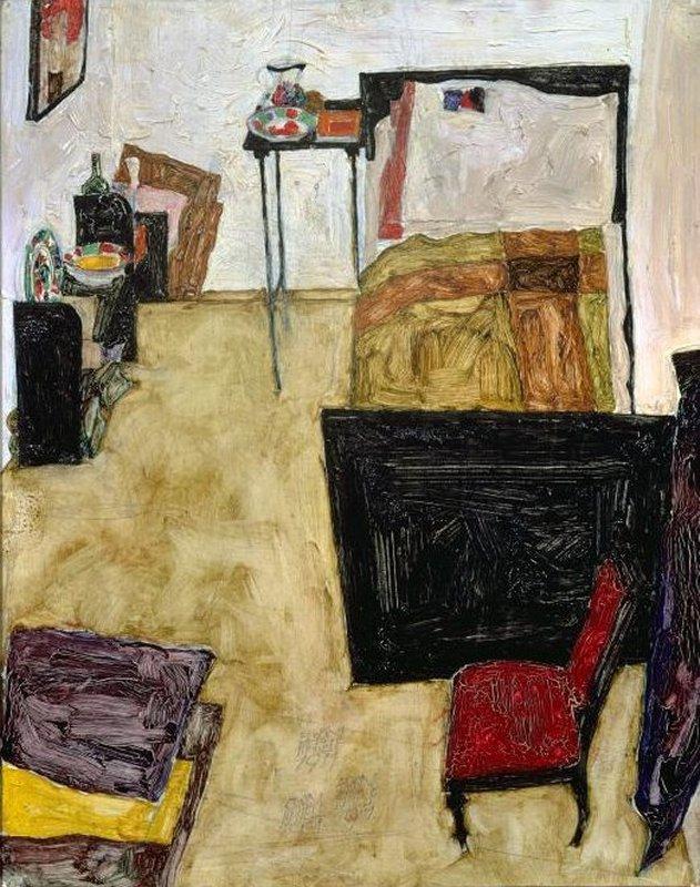 000 423 Egon Schiele The artist's room in Neulengbach, 1911.jpg