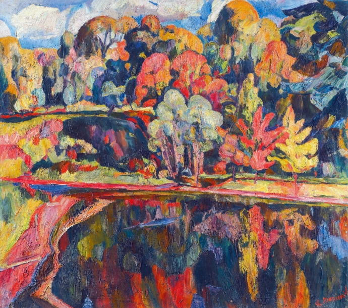 +2692 Abraham A. Manievich   Autumn Landscape.jpg