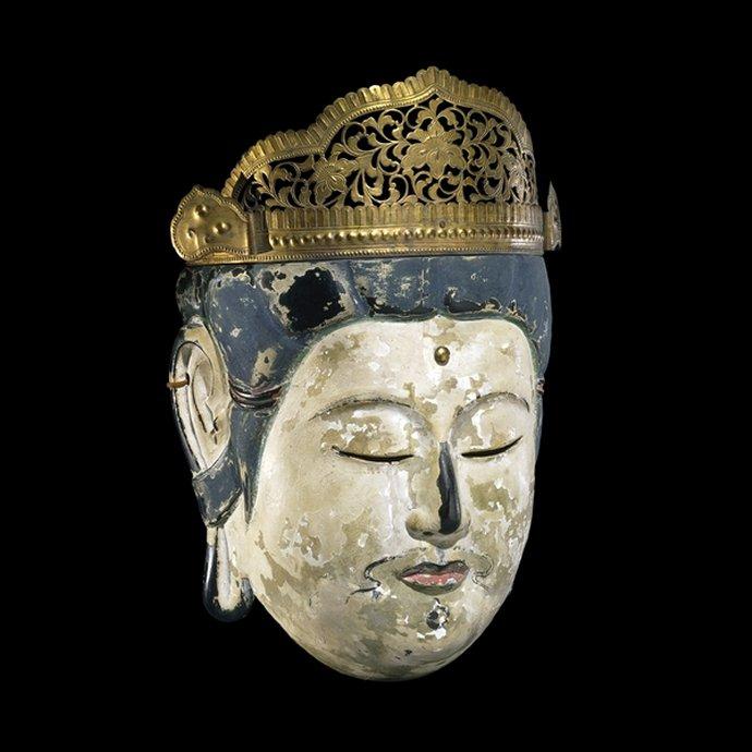 718 Bodhisattva mask for Gyodo. From Japan, Kamakura period, 13th century AD..jpg
