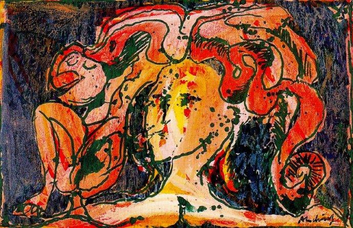 +229 Alechinsky P 1966 La Cantatrice.jpg