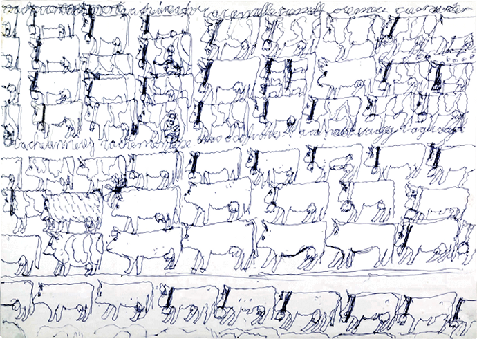 739 Gaston Savoy, sans titre, entre 1988 et 2004 stylo à bille et mine de plomb sur papier.png