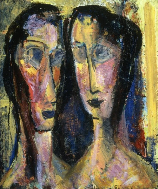 +2372 Alfred Henry Maurer  Two Heads with Yellow Background 1929.jpg