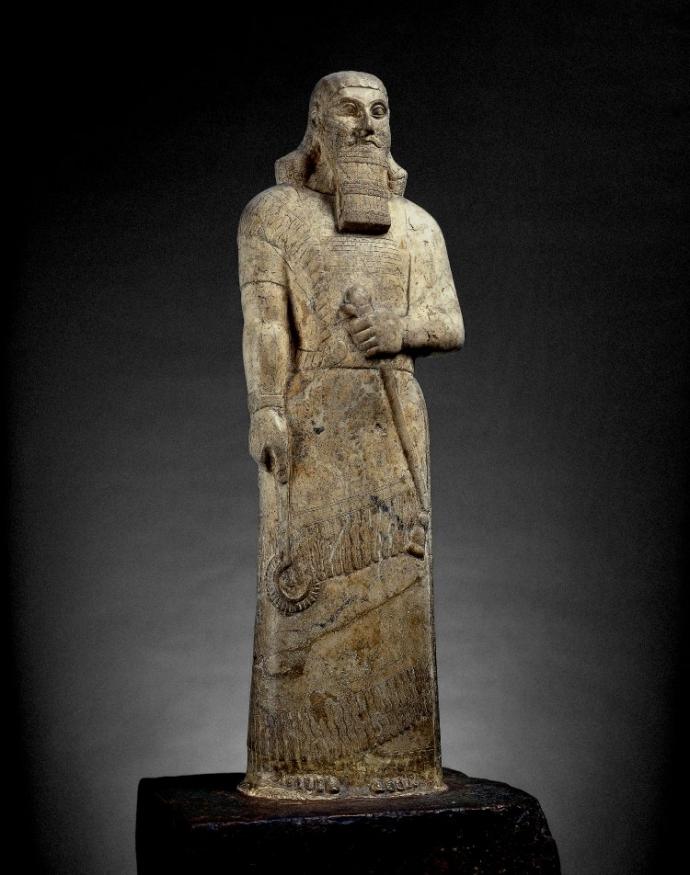 909 Art assyrien   statue of Ashurnasirpal II Temple de Ishtar Belit Mati, Nimrud, Iraq 883BC-859BC.jpg