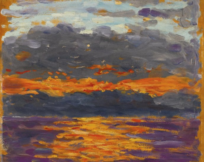 585 Winston Churchill  Sunset over the Sea (Orange and Purple), 1923.jpg