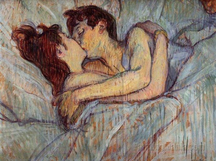 +1797 Henri de Toulouse Lautrec,bed kiss - 1892.jpg
