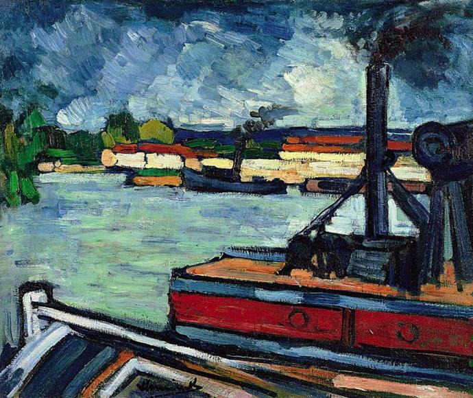 +2691 Maurice de Vlaminck   The river Seine near Nanterre (1906-1907).jpg