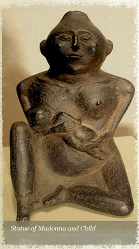 859 culture du Mississippi Mother and Nursing Child, 1000-1400 a.d. Cahokia Mounds, Illinois,.jpg
