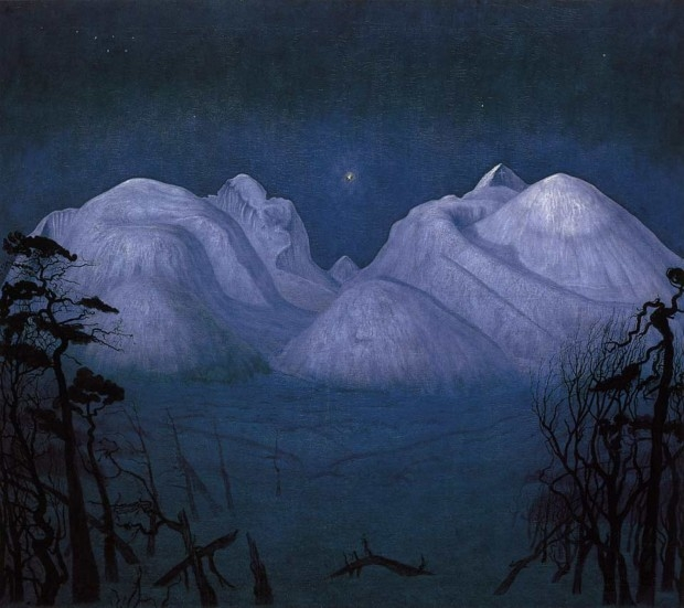 +5Harald Sohlberg, Winter Night in the Mountains, 1901.jpg