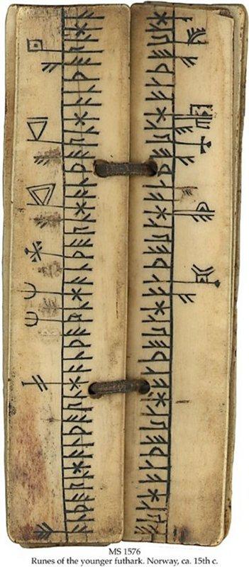 606 1 MS in Norwegian on walrus bone or reindeer horn, Norway, ca. 15th c..jpg